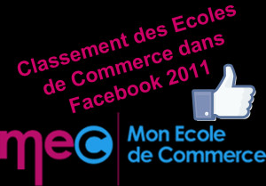 Classement des Ecoles de Commerce dans Facebook 2011 - Mon Ecole de Commerce