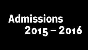les admissions 2015/2016